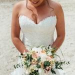 Bruidsboeket Peach/White